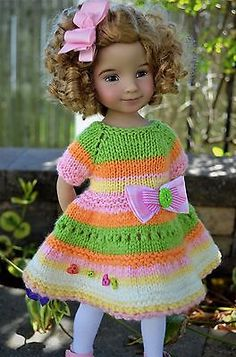 Dianna-Effner-13-034-Little-Darling-OOAK-Hand-Knit-OUTFIT-for-Spring-Wear