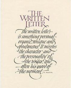 The Written Letter - John Stevens Copperplate Calligraphy, How To Write Calligraphy, Calligraphy Handwriting, Beautiful Calligraphy, Calligraphy Quotes, Calligraphy Alphabet, Penmanship, Caligraphy, Calligraphy Watercolor