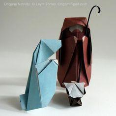 Nativity Scene - Belén en origami #origami #origaminativity #christmasorigami