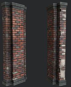 ArtStation - Damaged pillar PBR , david garrett