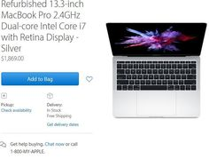 US Online Store: Generalüberholte MacBook Pro 2016 ohne Touch-Bar im Angebot - https://apfeleimer.de/2017/03/us-online-store-generalueberholte-macbook-pro-2016-ohne-touch-bar-im-angebot - Apple hat sein US-Store-Segment mit generalüberholter Hardware neu aufgestockt. Ab sofort findet man dort auch zwei Modelle des MacBook Pro 2016 ohne Touch-Bar. Um genau zu sein, finden sich im US-Store aktuell genau zwei dieser Modelle in der Sektion generalüberholte MacBook. 2.4 GHz/16G