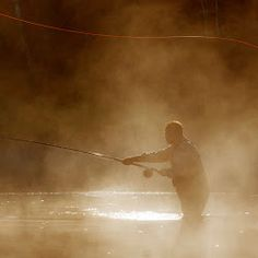 Spey casting in the mist www.buildfishinglures.com www.pennylure.com