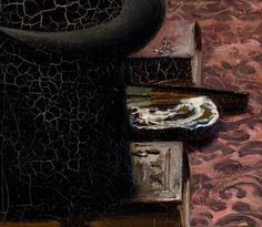 Détail, une huître, Une noce chez le photographe, Pascal Adolphe Jean Dagnan-Bouveret (1852-1929), décembre 1878 – mars 1879, huile sur toile, 85 x 122 cm, Musée des Beaux-Arts de Lyon, © Réunion des musées nationaux