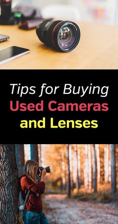Tips for Buying Used Tips for Buying Used Photography Gear. Cameras Lenses Accessories and more. DSLR mirrorless lens tripod saving money save cheap lowest price best deal pre-owned discount trade in sell photo photographer camera bag kit. Dslr Photography Tips, Photography Lessons, Photography Equipment, Digital Photography, Learn Photography, Photography Contract, Photography Hashtags, Building Photography, Wedding Photography