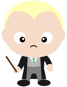 Draco Malfoy and his widow's peak. House Slytherin and reluctant Death Eater.  Check out all the Harry Potter clipart we've created in our new Etsy shop.