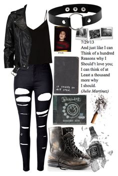 """play that blink-182 song that we beat to death in tucson"" by superwholockiplier ❤ liked on Polyvore featuring WithChic, Raey, VIPARO and H&M"