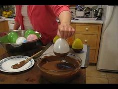 How to make Chocolate Balloon Bowls. Fill with nuts, ice cream, pudding, fruit, etc.