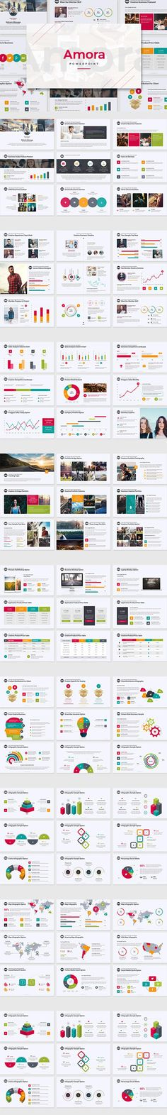 #presentation #template from zigens | DOWNLOAD: https://creativemarket.com/zigens/708486-Amora-Powerpoint-Template?u=zsoltczigler