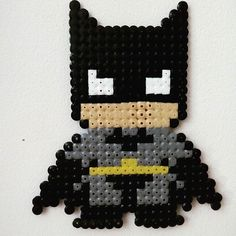 Batman hama beads by planeta_namek Pearler Bead Patterns, Perler Patterns, Pearler Beads, Cute Crafts, Bead Crafts, Diy Crafts, Marvel Cross Stitch, V Instagram, Melting Beads