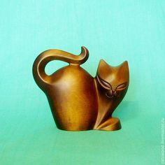 "Статуэтка из дерева Кошка ""Незнакомка"" Александр Савельев-деревянные кошки 5 000 руб"