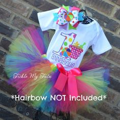 Beach Party Themed Birthday Tutu Outfit Beach Ball by TickleMyTutu