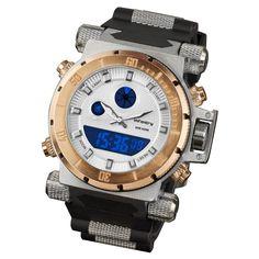 INFANTRY Mens Digital Quartz Wrist Watch Stopwatch Sport Army Luxury Gold Rubber #Infantry #Sport