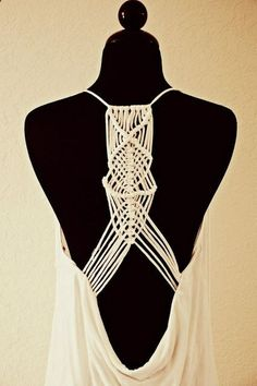 Great tutorial on how to make the Macram back top from Trash To Couture: Macram Racerback from tshirts