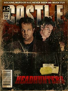 Cool comic style art! Castle and Messrs Fillion and Baldwin, we honour you!