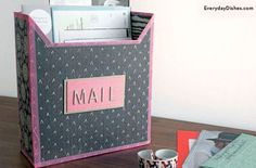 DIY Mailbox Craft from Cereal Boxes | Cereal Mail Box by DIY Ready at http://diyready.com/28-things-you-can-make-from-cereal-boxes/