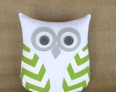 chartreuse pillow green and gray nursery by whimsysweetwhimsy $39.00