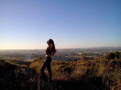 Girlfriend in the field