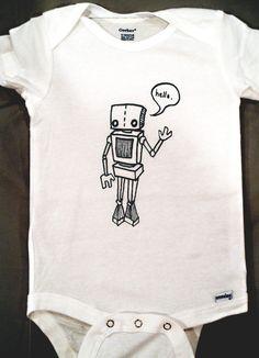 Robot Baby Onesie