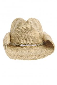 Zahara Raffia Cowboy Hat   | Calypso St. Barth