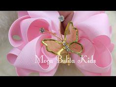 Laço Boutique Triplo - YouTube Ribbon Hair Bows, Diy Hair Bows, Diy Ribbon, Homemade Bows, Baby Girl Christmas Dresses, Hair Bow Tutorial, Hair Decorations, Boutique Hair Bows, Making Hair Bows
