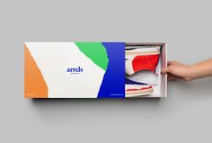 Brand Identity and packaging for Barcelona based shoe brand Arrels by graphic design studio Hey via BP&O A Packaging Design Blog.