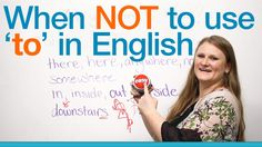 When NOT to use 'to' in English - Grammar - Learn and improve your English language with our FREE Classes. Call Karen Luceti 410-443-1163 or email kluceti@chesapeake.edu to register for classes. Eastern Shore of Maryland. Chesapeake College Adult Education Program. www.chesapeake.edu/esl.