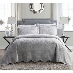 Shop for VCNY Westland Quilted Plush 3-piece Bedspread Set. Ships To Canada at Overstock.ca - Your Online Fashion Bedding Outlet Store!