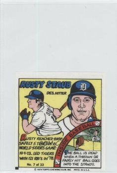 Rusty Staub Detroit Tigers (Baseball Card) 1979 Topps Comics #7 by Topps Comics. $1.44. 1979 Topps Comics #7 - Rusty Staub