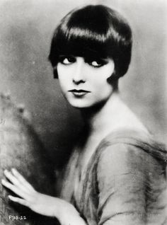 Hairstyle - the bob and shingle cut (a bob haircut with a tapered back) (Louise Brooks by Edward Thayer Monroe c. 1925)