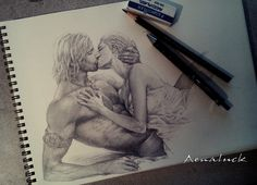 [Deep kiss by aenaluck on DeviantArt]