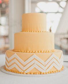 Modern, Yellow Wedding Cake  // Photo: Sweet Little Photographs // Feature: The Knot Blog