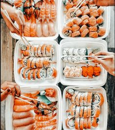 Cute Food, Yummy Food, Healthy Snacks, Healthy Recipes, Sushi, Food Wallpaper, Food Goals, Recipes From Heaven, Aesthetic Food