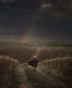 cool-animal-children-photography-Elena-Shumilova-running These are just fantastic. Photographer is from Russia. Love them.