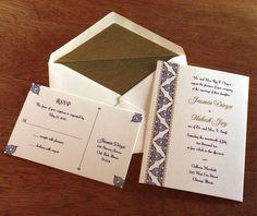 jasmin letterpress wedding invitation by invitations by ajalon