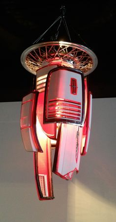 Lamp made from vintage English Miller Bike Headlight | Obsolete ...