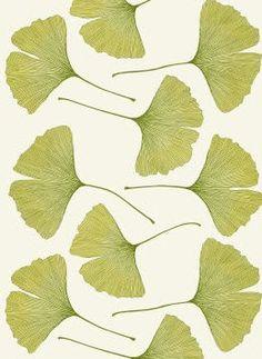 Tela de Flores de algodón satinado GINKGO by Kristina Isola for MARIMEKKO