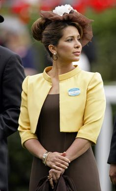 Princess Haya Bint Al Hussein of Jordan, Sheikha of Dubai Princess Haya, Royal Princess, Grace Kelly, Royal Hairstyles, Jordan Royal Family, The Royal Collection, Dubai, Queen Dress, Fancy Hats