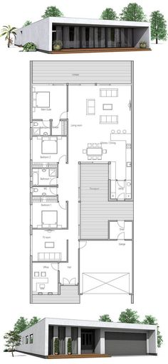 Narrow Home Plan