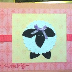 Lamb Welcome Baby card Sheep Cards, Craft Cards, Welcome Baby, Baby Cards, Lamb, Stamping, Craft Ideas, Crafty, Creative