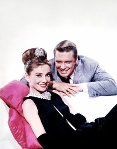 Audrey Hepburn and George Peppard for Breakfast at Tiffany's (1961)