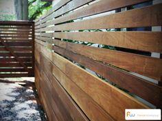 Horizontal hardwood fence! #fencing