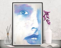 Bring a glam look to the girl's bedroom! Fashion poster decor - Instant download at FraBor Art.
