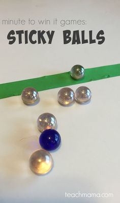 Minute to win it games for kids and family are so fun! Try this sticky ball version for a fun family night or classroom activity! #teachmama #minutetowinit #stickyballs #games #familygames #kidsgames #familyactivities #kidsactivities