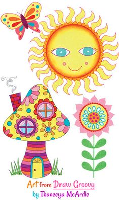 Groovy Colorful Art by Thaneeya McArdle