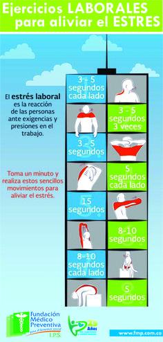 Ejercicios Laborales para aliviar el #Estres