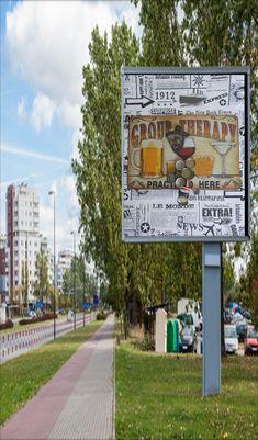 Bieröffner auf Retrotafel 30/20 cm Sidewalk, Beer, Walkways, Pavement