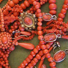 Uchizono Gallery - Antique Coral, Coral Cameo, mediterranean coral