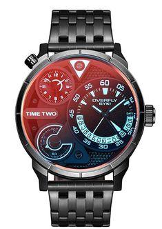 Metallarmbanduhr mit photochromen Glas, auch in anderen Farben erhältlich #Geschenkidee #Armbanduhr Smart Watch, Watches, Style, Bangle Bracelets, Clocks, Black Stainless Steel, Man Jewelry, Calendar, German