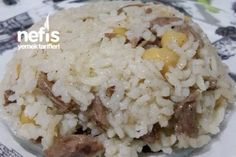 Kabune Pilavı (Süper Lezzet) Tarifi Rice Recipes, Meat Recipes, Recipies, Dinner Recipes, Cooking Recipes, Turkish Kitchen, Food Articles, Turkish Recipes, Rice Dishes