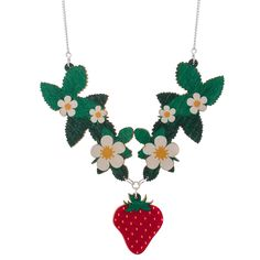 Strawberry Plant Collar Necklace   Punky Pins